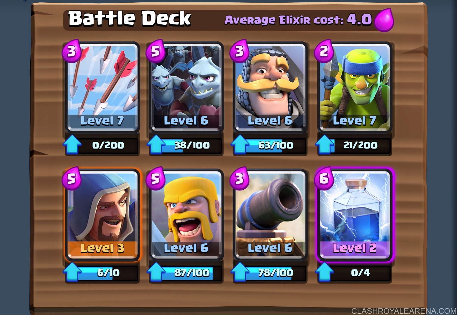 How to push to arena 6 at level 6 clash royale guides for Clash royale meilleur deck arene 7