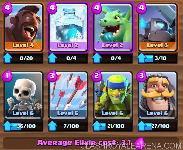 Arena 4 Deck Freeze Hog Strategy Clash Royale Guides
