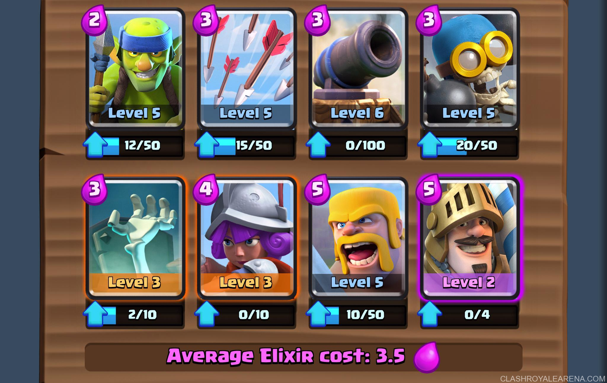 Arena 5 Deck: Easy 1500+ Trophies at Level 5 | Clash Royale