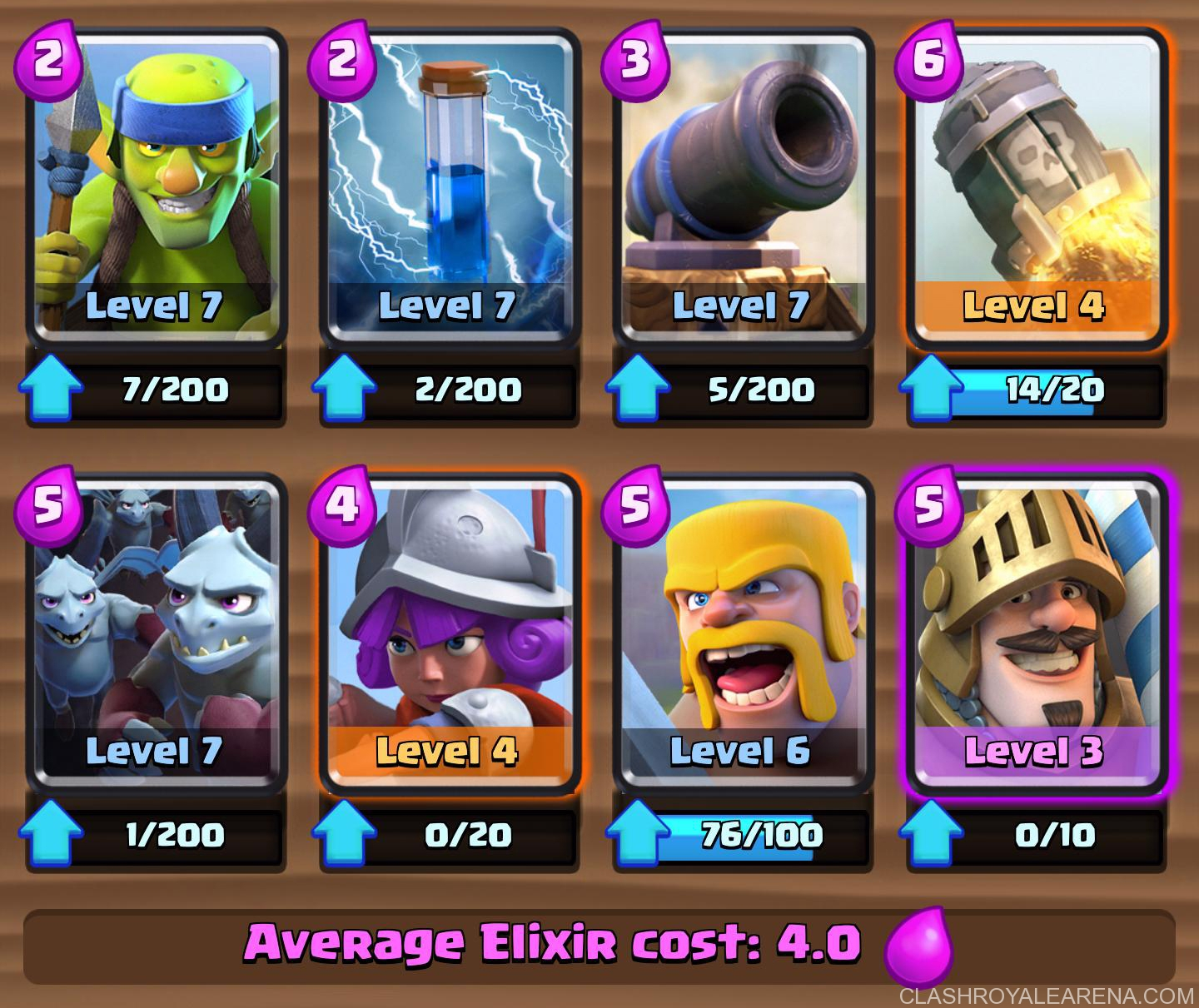 arena 7 prince rocket deck easily push to royale arena