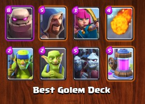 Best Golem Deck in Clash Royale