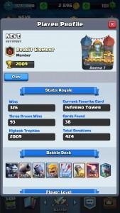 Clash Royale Profile