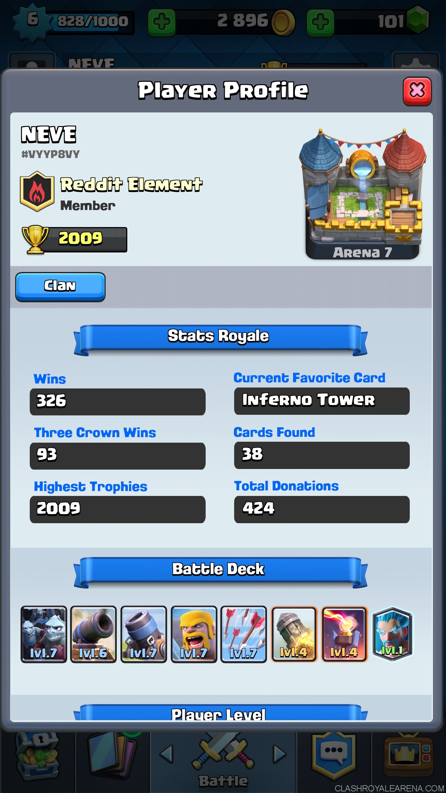 mortar deck which helps me push to arena 7 at level 6