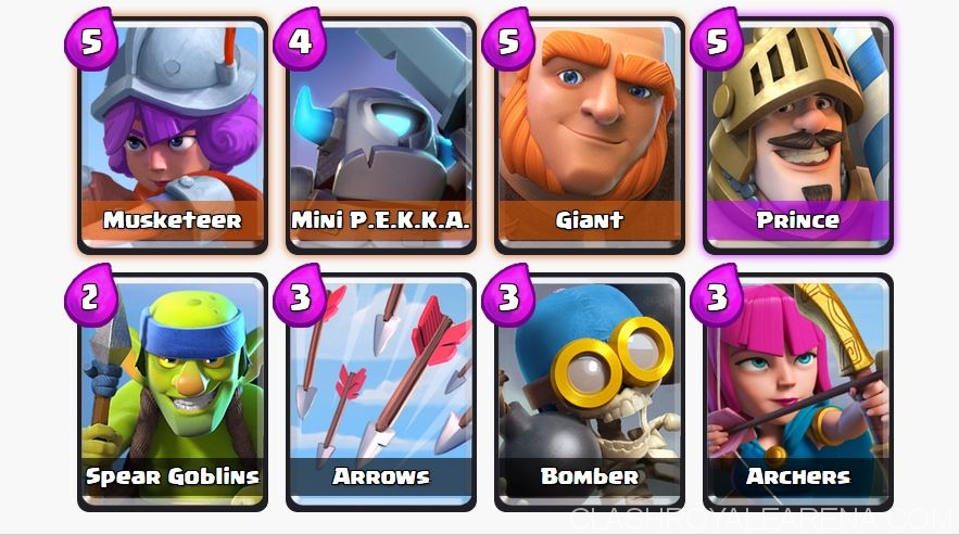 Arena 2 deck for pushing to arena 5 quickly clash royale for Deck pekka arene 6