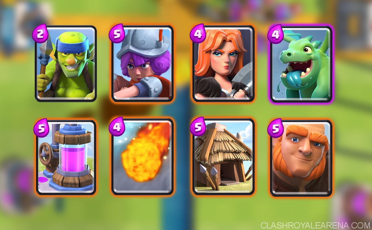 Clash royale arena 6 deck f2p deck which got me to 2300 for Deck pekka arene 6