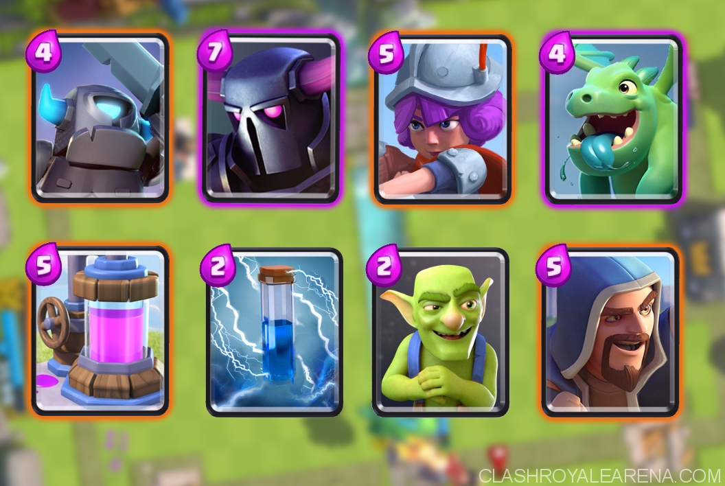 Pushing to arena 7 with dual p e k k a deck clash royale for Deck arene 6 miroir