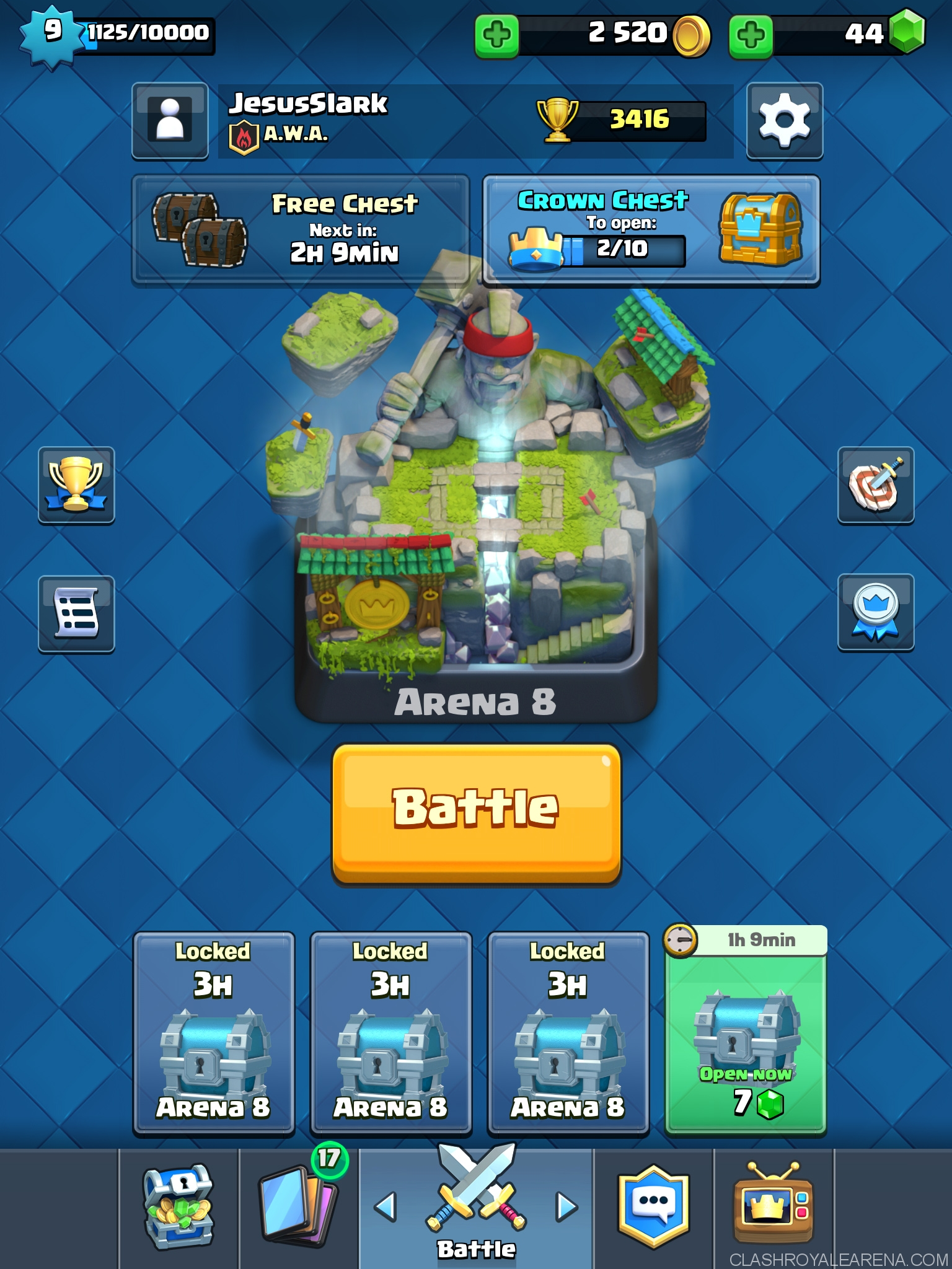Push To Arena 8 With Arena 5 Cards Clash Royale Guides