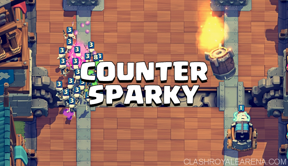 counter sparky in Clash Royale