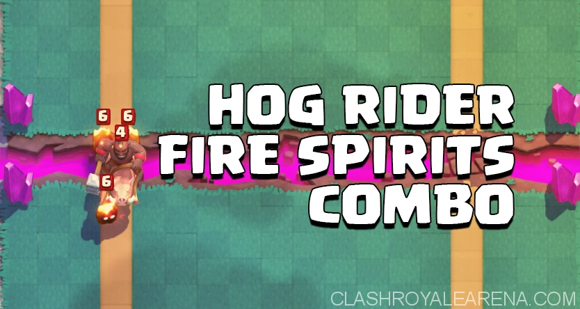Best Fire Spirit + Hog Rider Deck