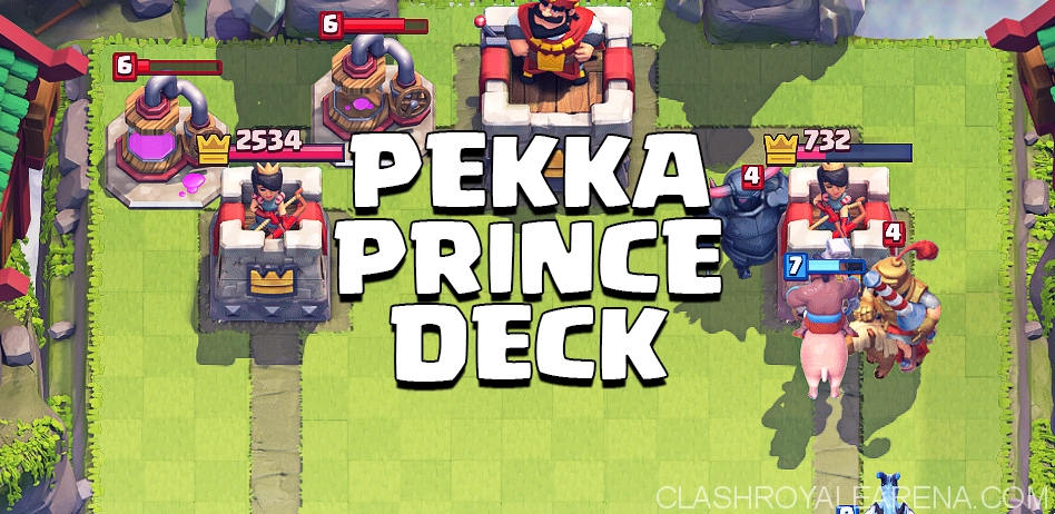 get to arena 8 with pekka and prince
