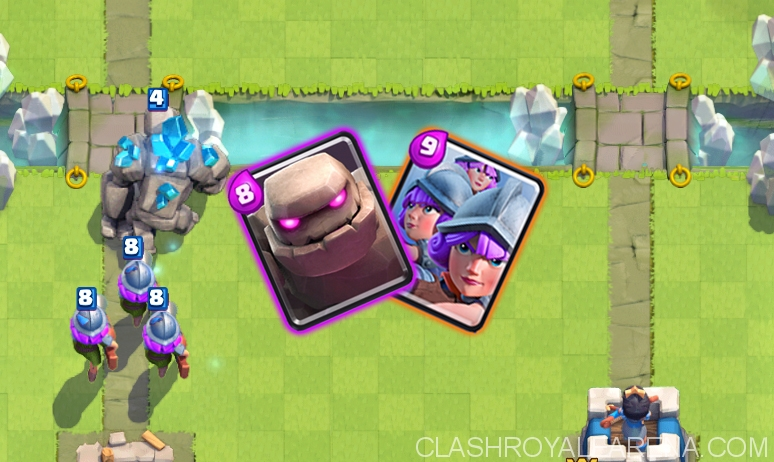 Clash Royale Arena 7 Deck With Golem And 3 Musketeers