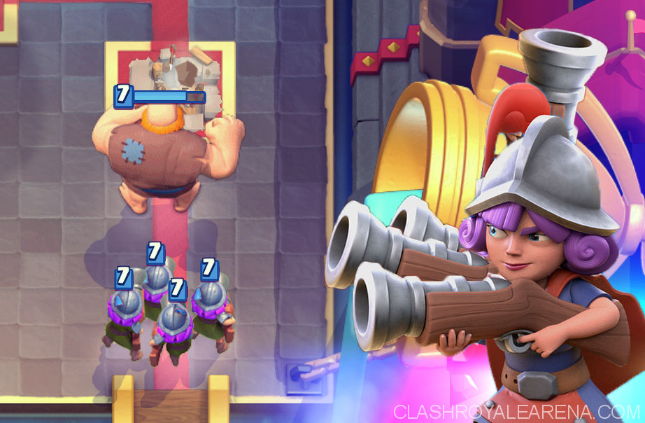 Giant 4 Musketeers Beatdown Deck Clash Royale Guides