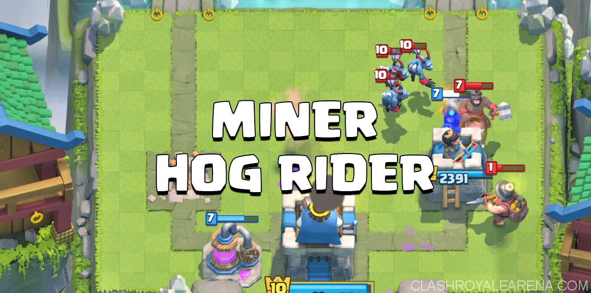 Miner Hog Rider Cycle Deck