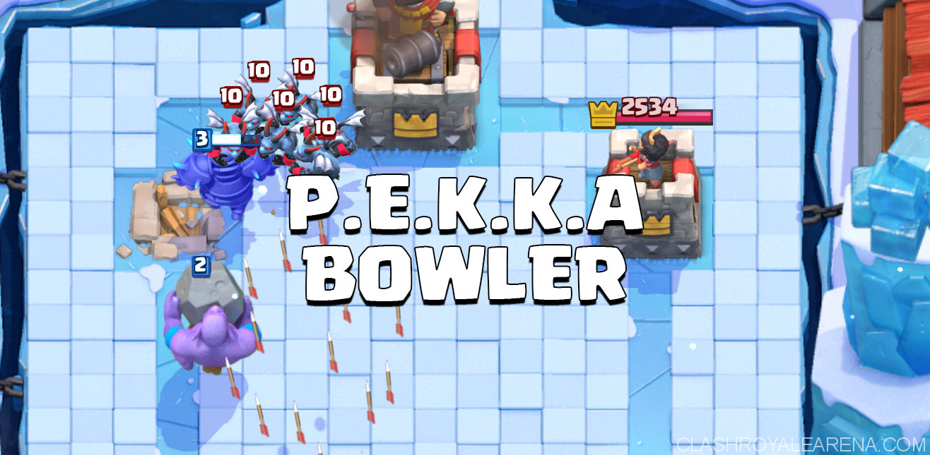 P e k k a bowler deck for arena 8 and 9 clash royale guides for Deck pekka arene 6