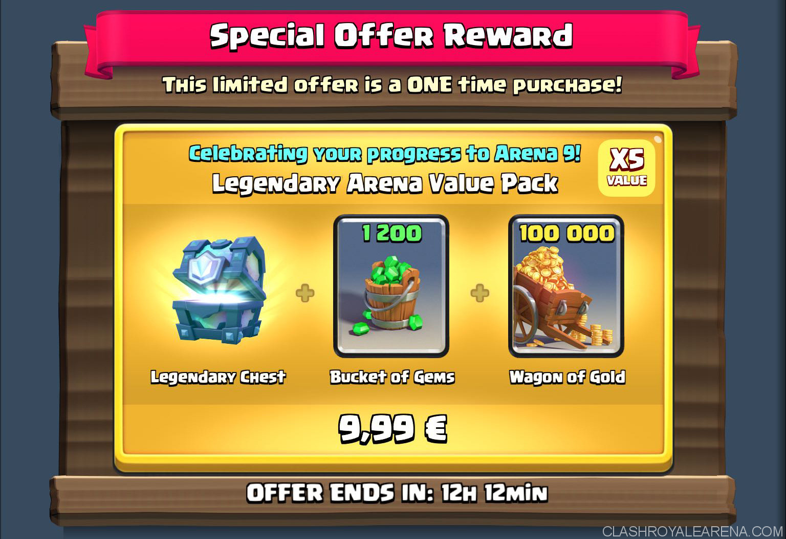 clash royale arena pack
