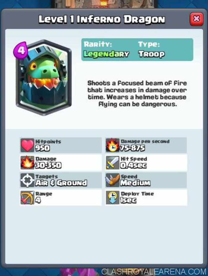 inferno dragon clash royale