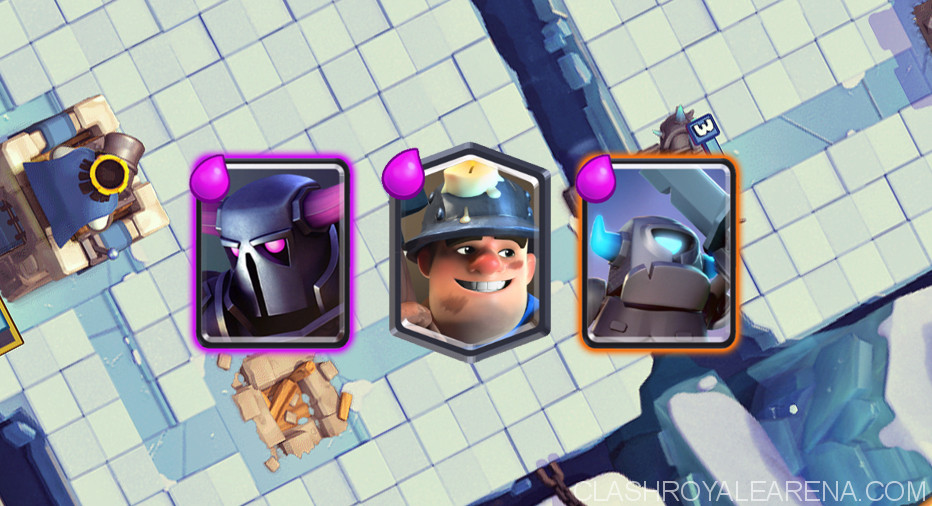 Miner Double P E K K A Deck For Arena 8 Clash Royale Guides