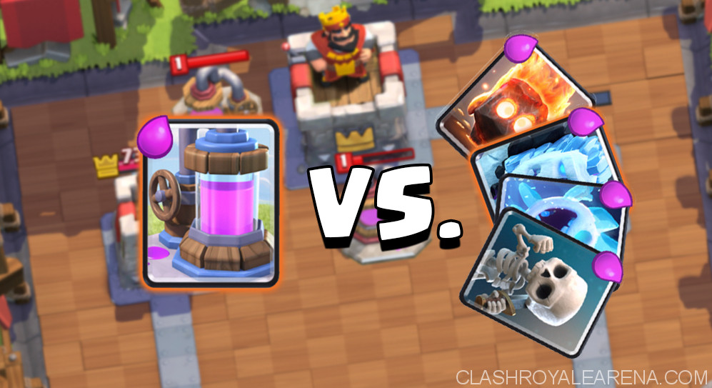 Elixir Collector vs Cycle Card Clash Royale