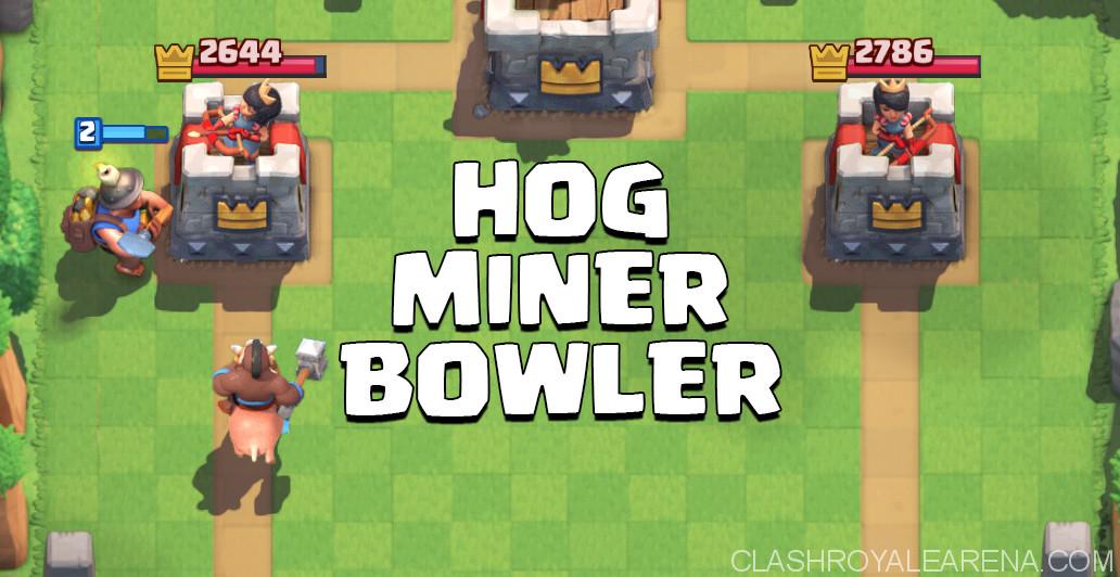 Hog Miner Bowler Deck