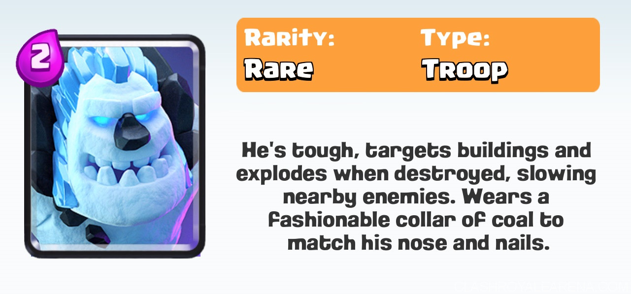 Ice Golem Clash Royale Information