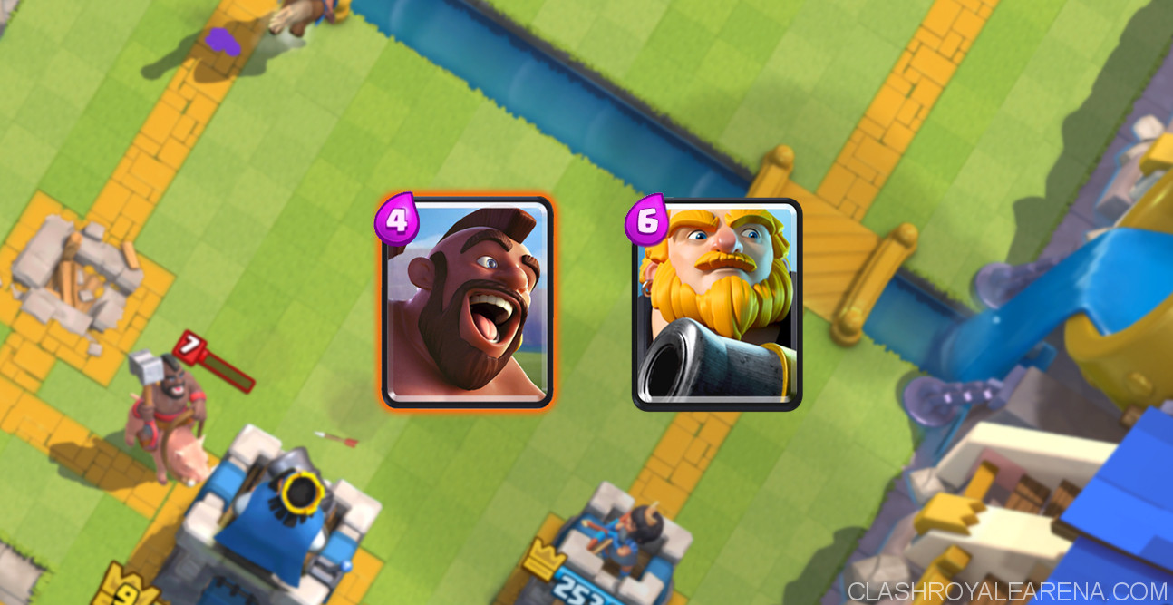 Hog Rider and Royal Giant