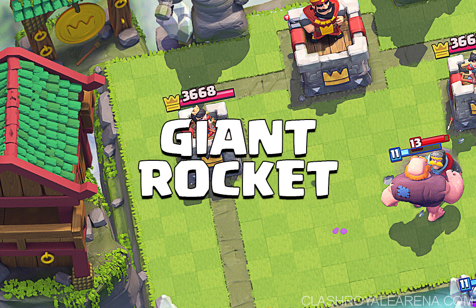 giant rocket deck
