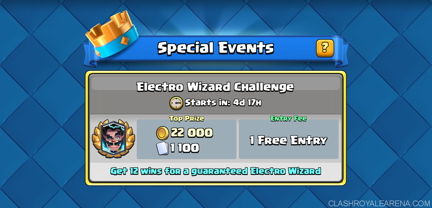 Clash Royale Electro Wizard Challenge