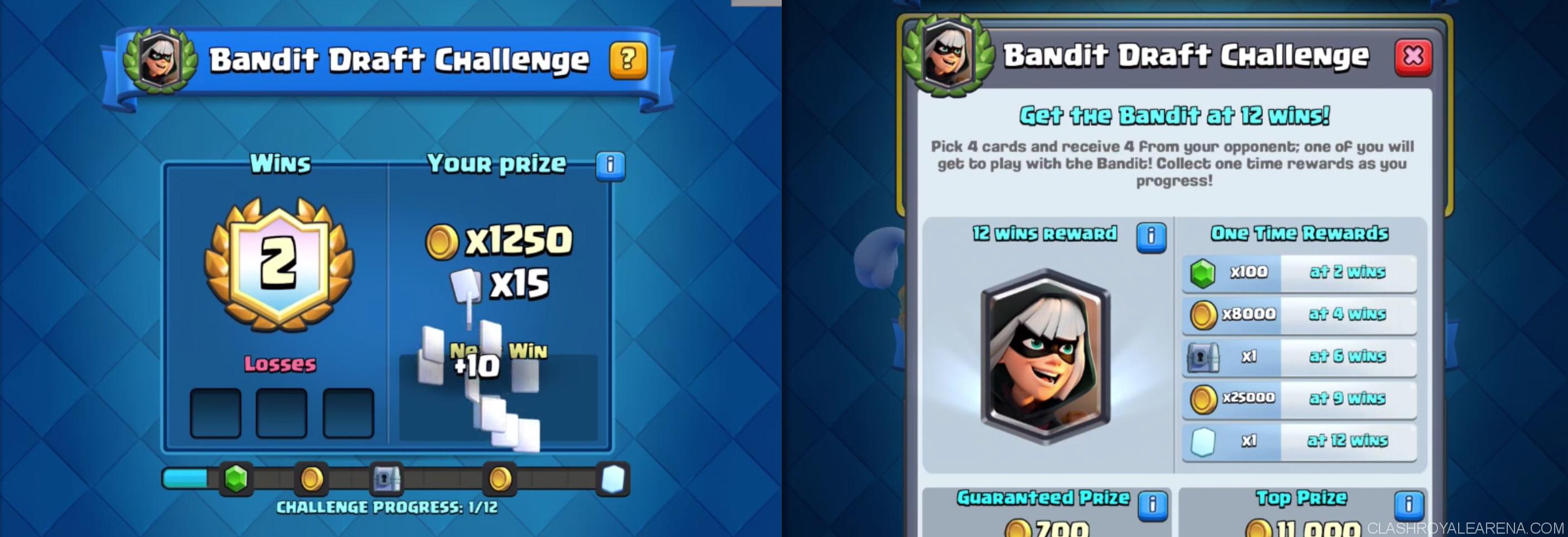 Clash Royale Bandit Draft Challenge