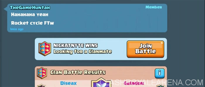 Clan Battle Invitation