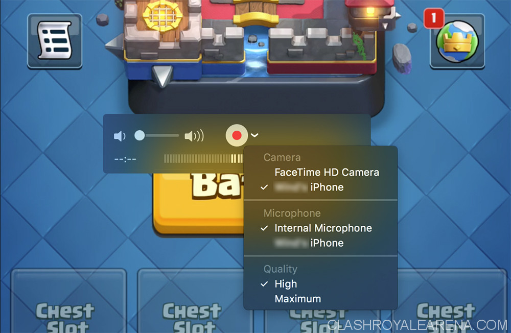 recording clash royale on mac
