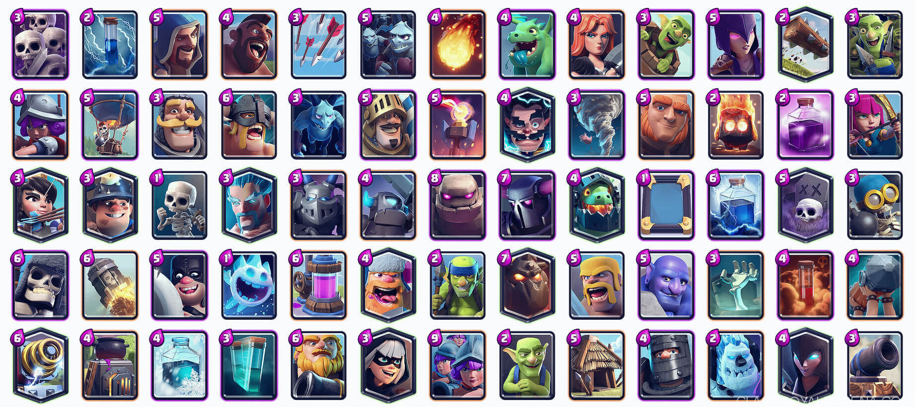 best clash royale cards