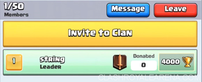 invite to clan