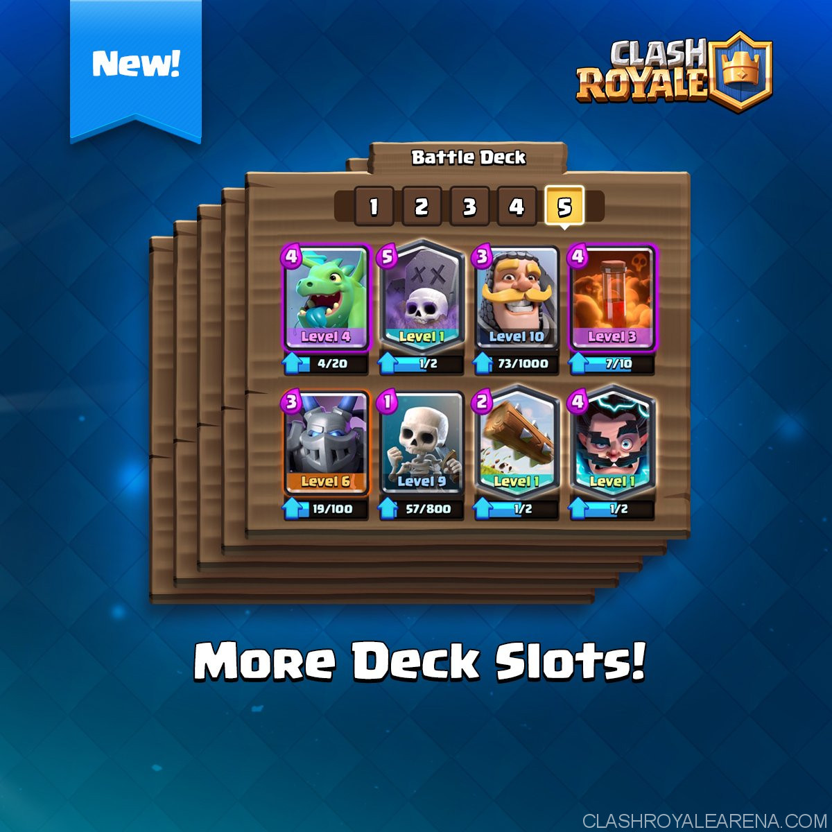 more deck slots clash royale