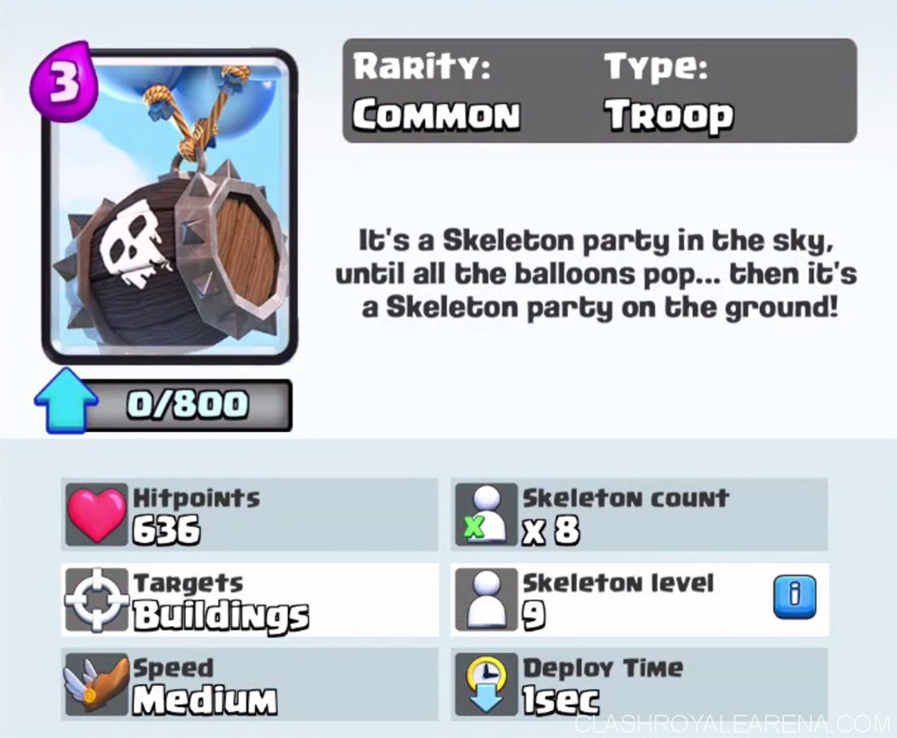 skeleton barrel