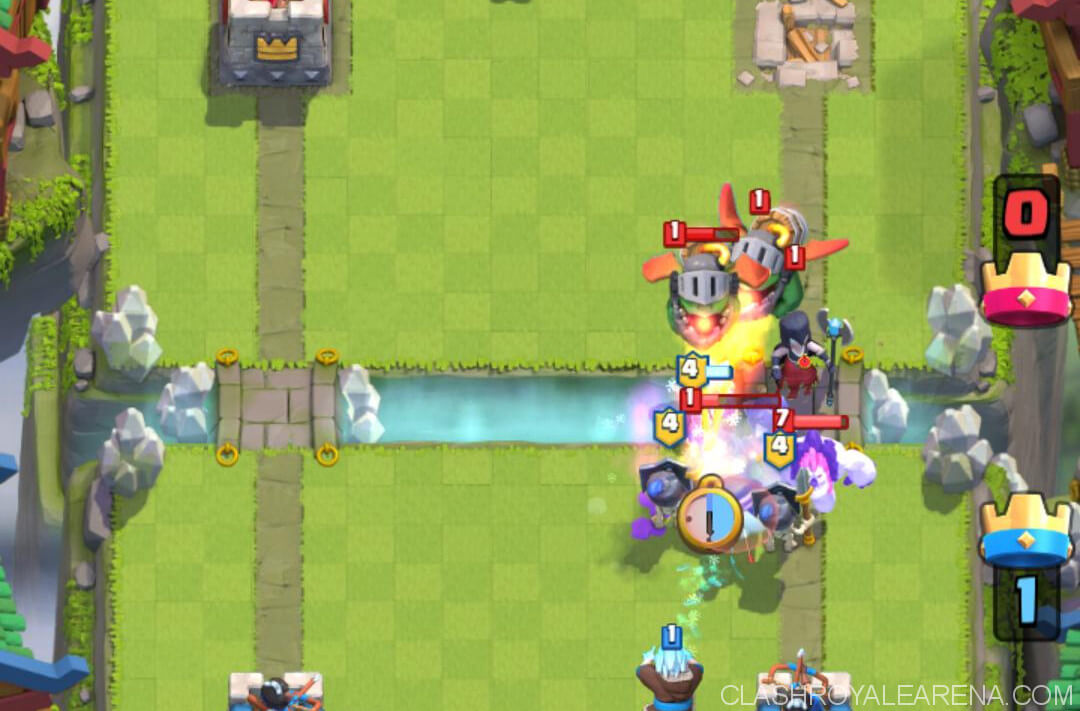 guards surrounding mega knight