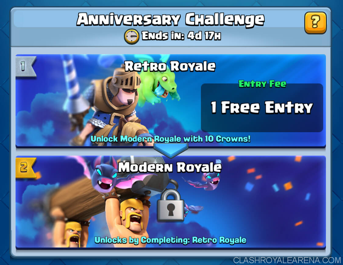 anniversary challenge clash royale