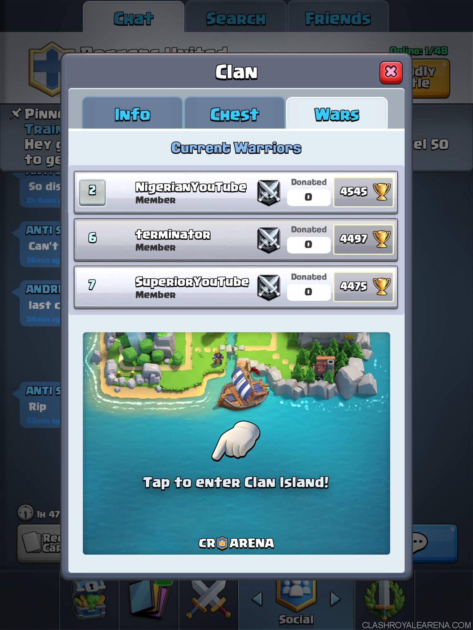 clash royale clan wars screenshot