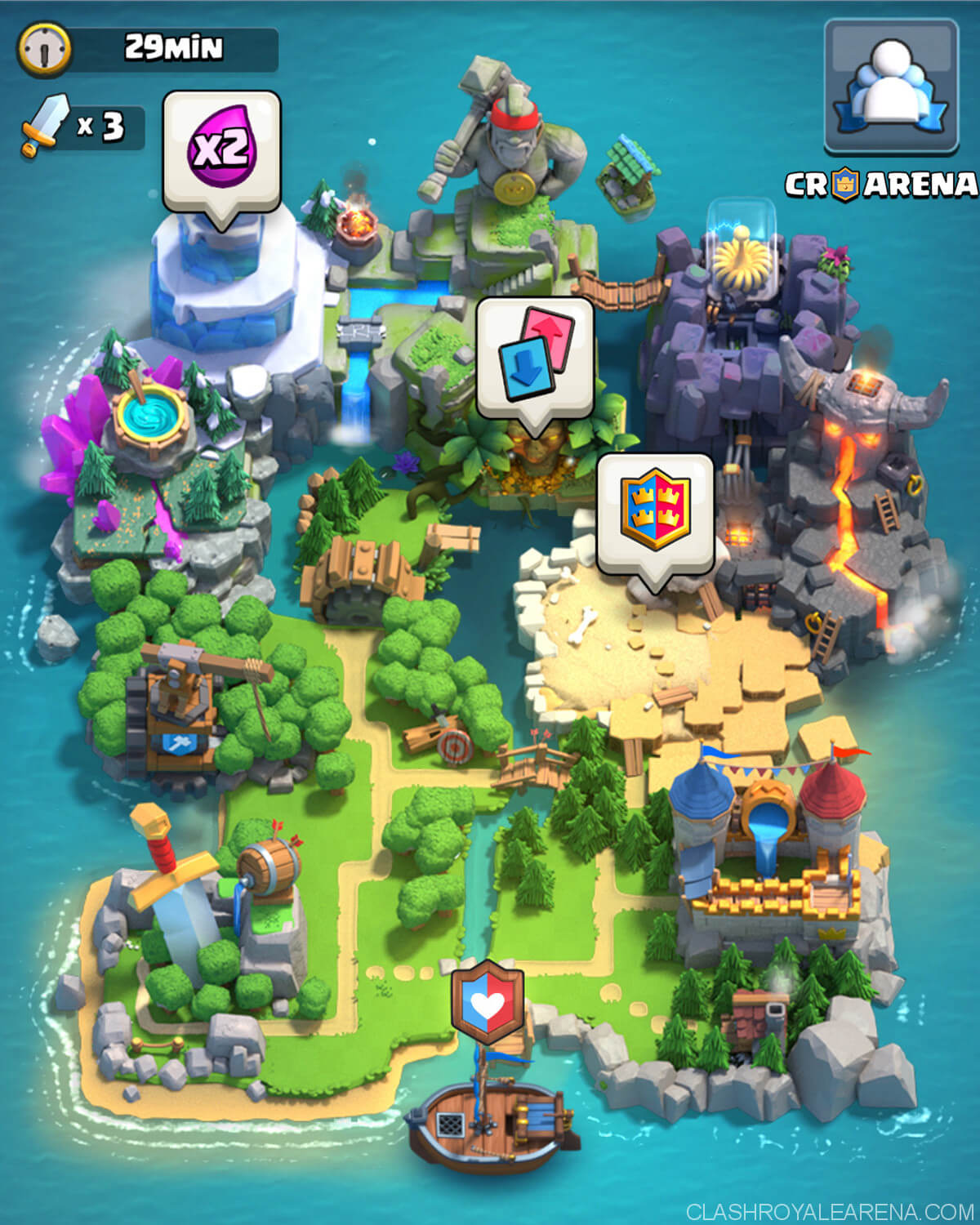 clash royale clan wars map