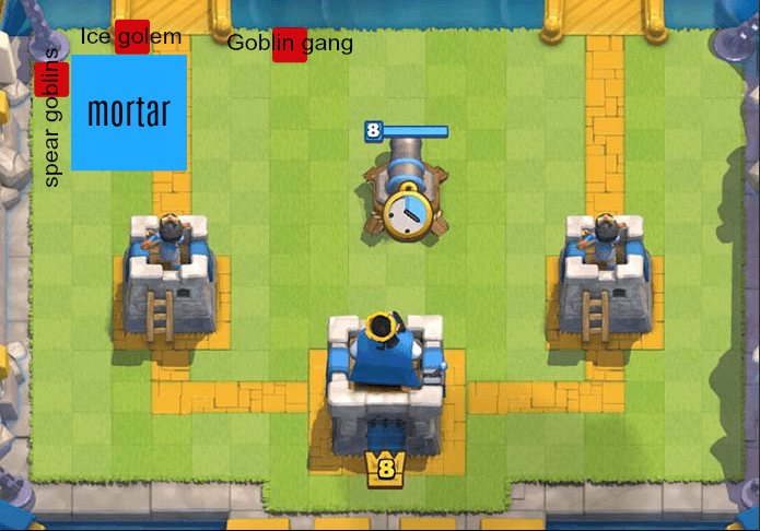 mortar bait placement