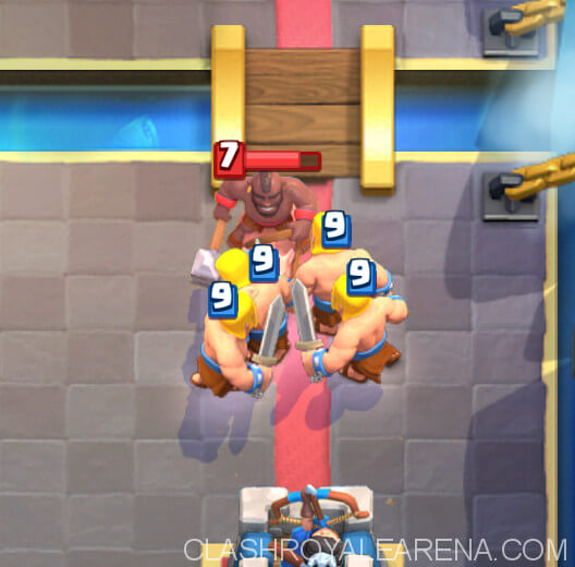 wall against hog rider