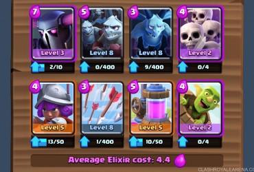 good clash royale arena 8 decks without legendaries